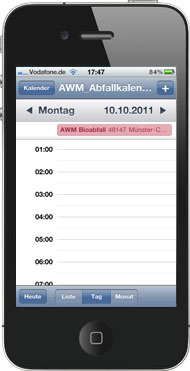 Smartphone Kalender Tag